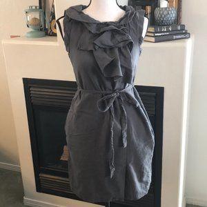 Gap Size 2 Grey Cotton Wool Dress w/ Pockets